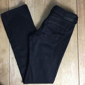 Diesel Black Stretch 'Ronhary' Straight Leg Jeans